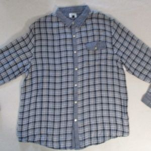 Men Shirt Threads and Heirs XL White Long Sleeve 1